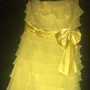 Dresses & Skirts - Sherri Hill yellow prom dress